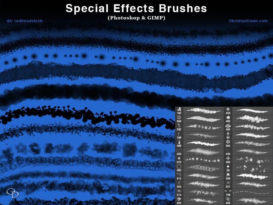 Текстурные кисти для создания эффектов в Фотошопе
