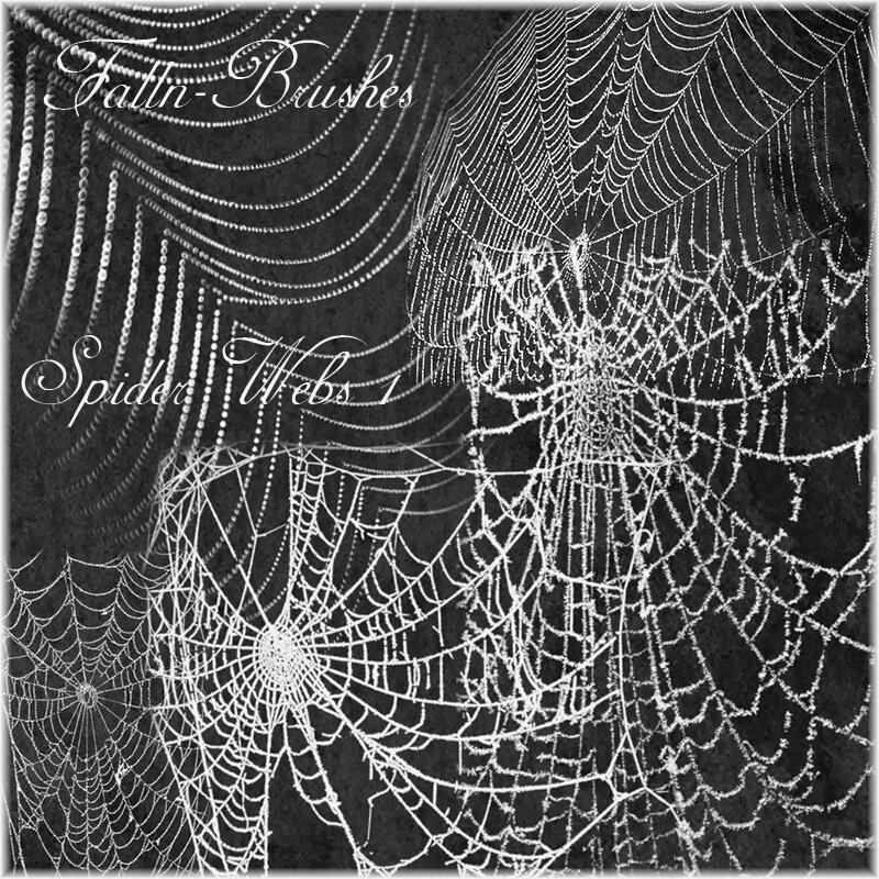 Кисти для рисования паутины в Фотошопе