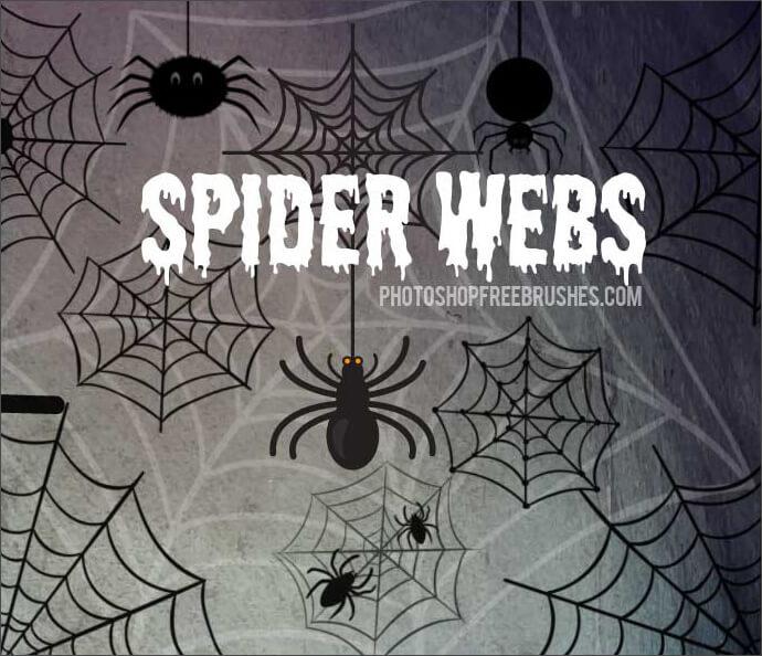 Кисти для рисования пауков и паутины в Фотошопе