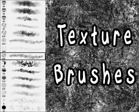 Текстурные кисти для создания различных эффектов в Фотошопе
