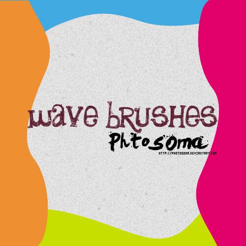 Кисти с нарисованными волнами для Фотошопа