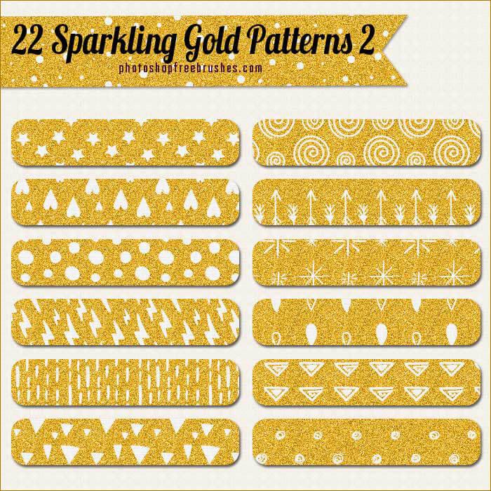 Паттерны для создания искрящихся золотых фонов в Фотошопе