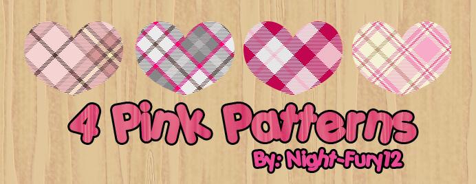 Паттерны с узорами в розовых тонах для Фотошопа