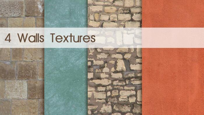 Паттерны с текстурами стен для Фотошопа