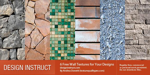 Текстуры разных стен для создания красивого фона в Фотошопе