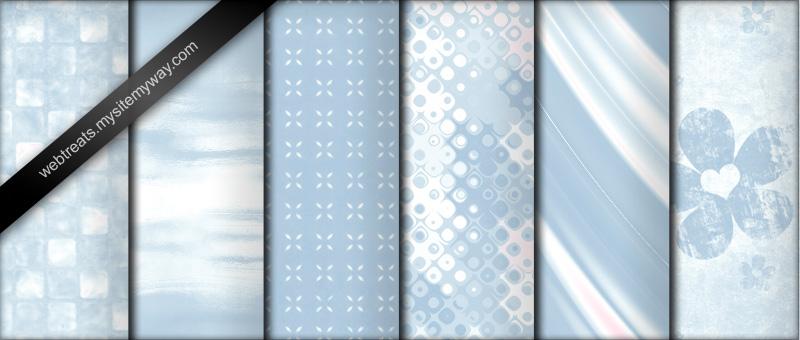 Паттерны для создания детских фонов в голубых тонах в Фотошопе