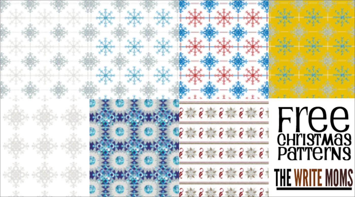 Паттерны для создания зимних рождественских фонов в Фотошопе