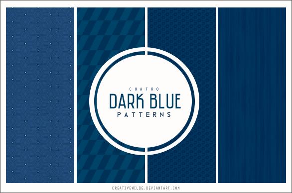 Паттерны для создания фонов с темно-синими узорами в Фотошопе
