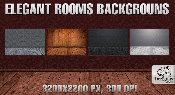 Фоны с пустыми комнатами для Фотошопа