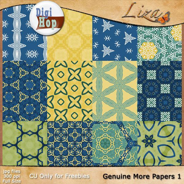 Абстрактные фоны в синих и желтых цветах для Фотошопа