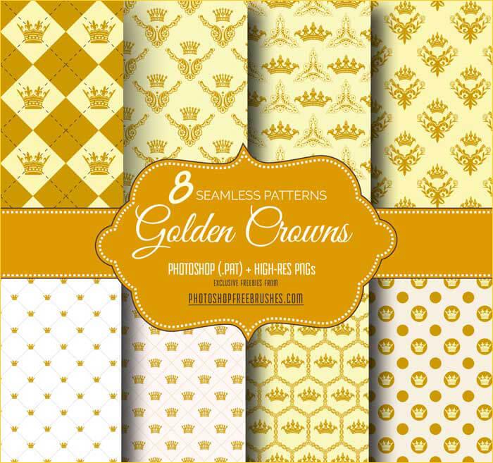 Фоны с изображением золотой короны для Фотошопа
