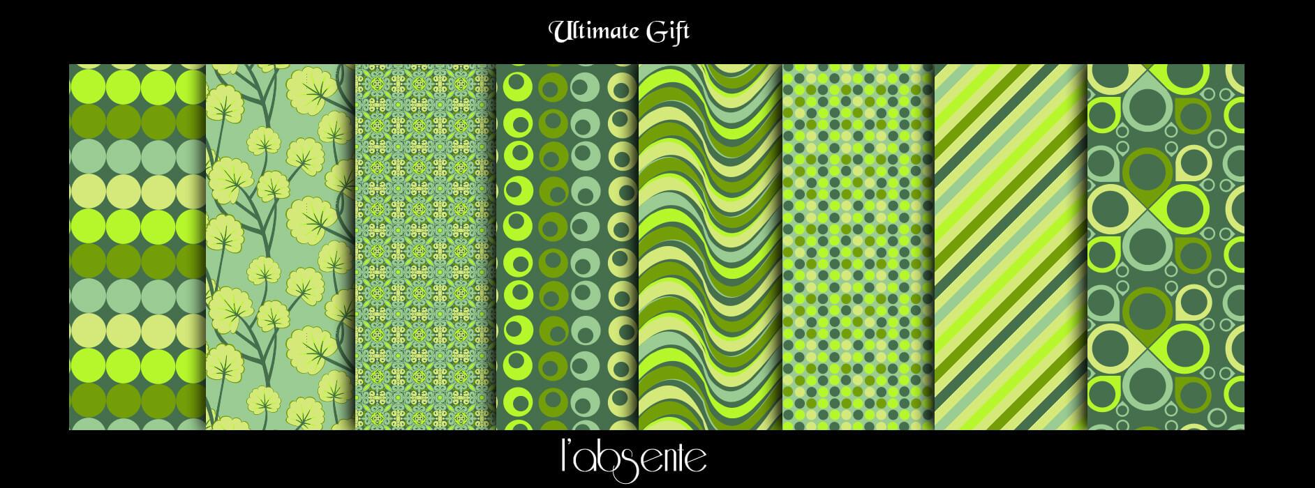 Фоны с абстрактными зелеными узорами для Фотошопа