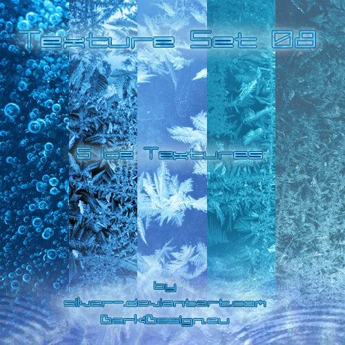 Фоны с ледяными и снежными текстурами для Фотошопа