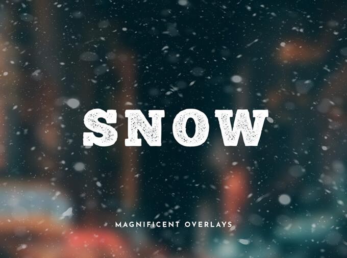 Фоны со снегом для наложения на изображение в Фотошопе