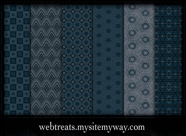 Паттерны для создания фонов с синими абстрактными узорами в Фотошопе