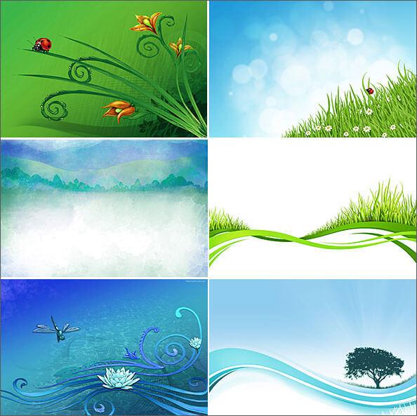 Нарисованные природные фоны для Фотошопа