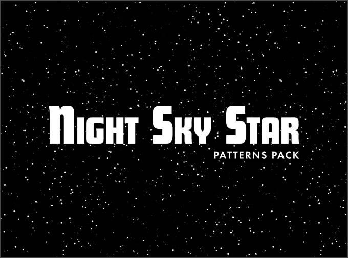 Набор узоров для создания фона звездного неба в Фотошопе