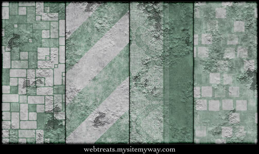 Паттерны с зелеными гранжевыми узорами для Фотошопа