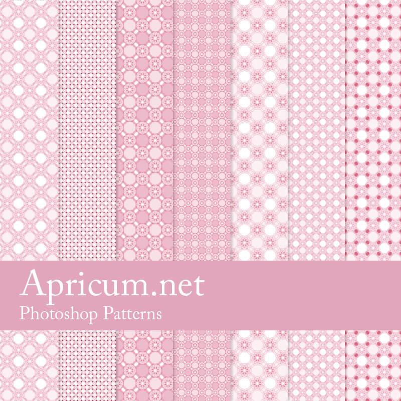 Паттерны с узорами в нежных розовых тонах для Фотошопа