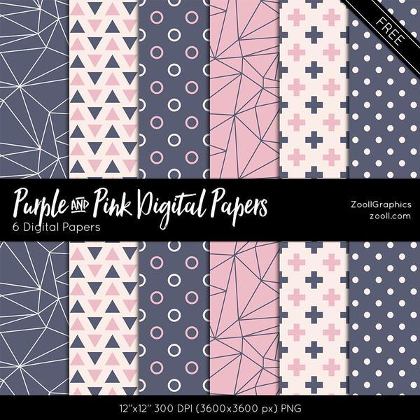 Фоны в фиолетовых и розовых тонах для Фотошопа