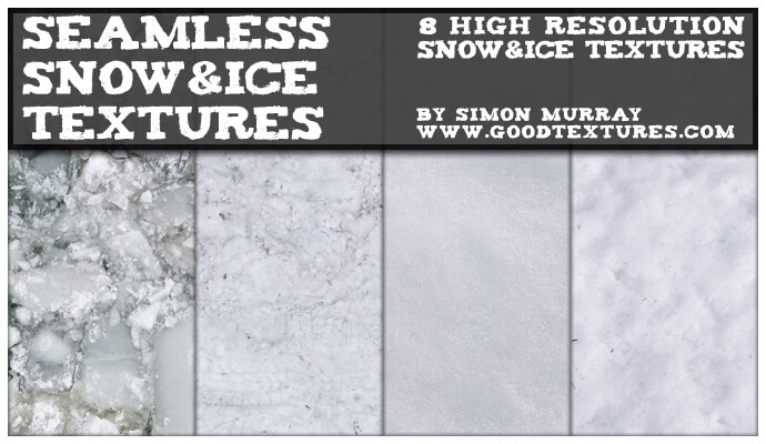 Фоны с текстурой снега и льда для Фотошопа
