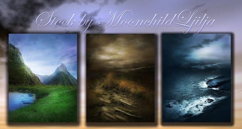 Фоны с живописными фэнтезийными пейзажами для Фотошопа