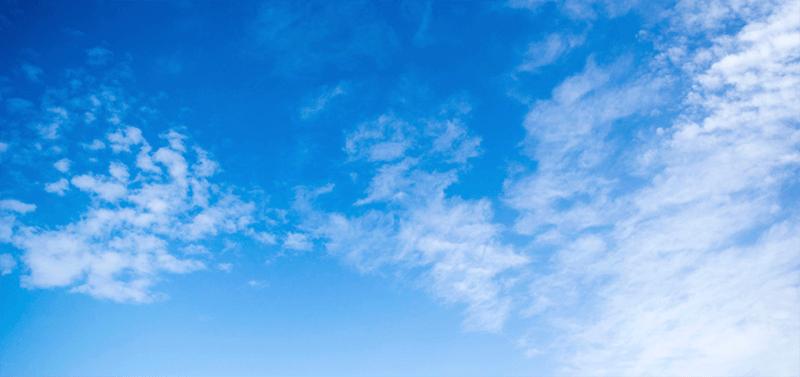 Фото неба с облаками для замены на исходном изображении в Фотошопе