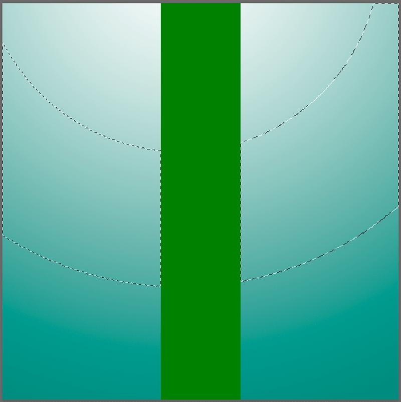 Выделение участка с помощью Волшебной палочки в Photoshop с отключенными смежными пикселями