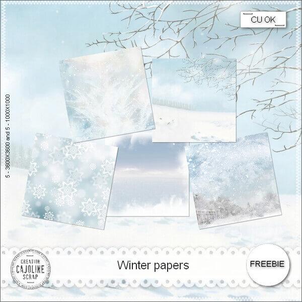 Морозные зимние фоны для Фотошопа