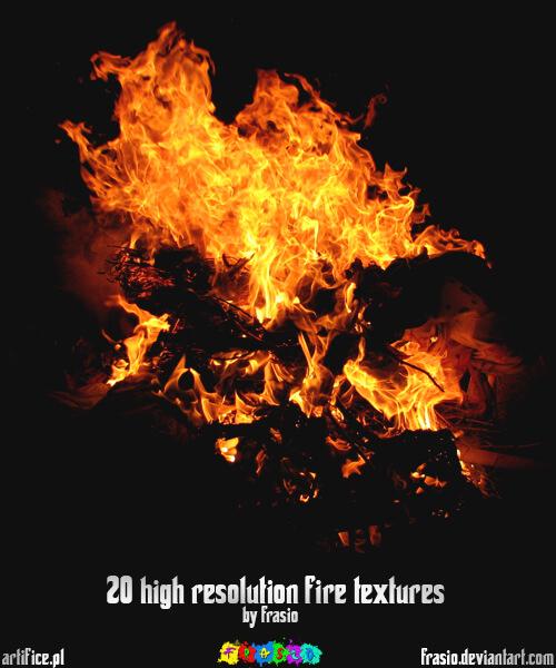 Фоны-текстуры огня в высоком разрешении для Фотошопа