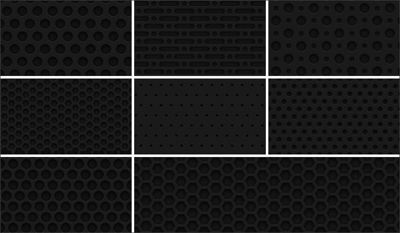 Темные фоны с текстурой металлической сетки для Фотошопа