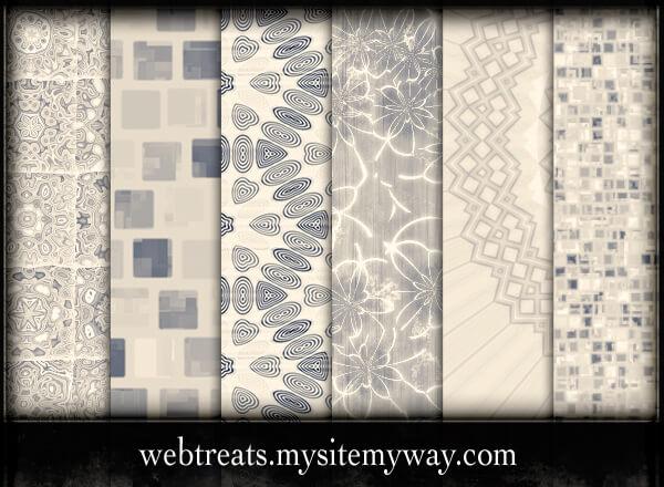Паттерны-фоны с узорами в бежевых тонах для Фотошопа