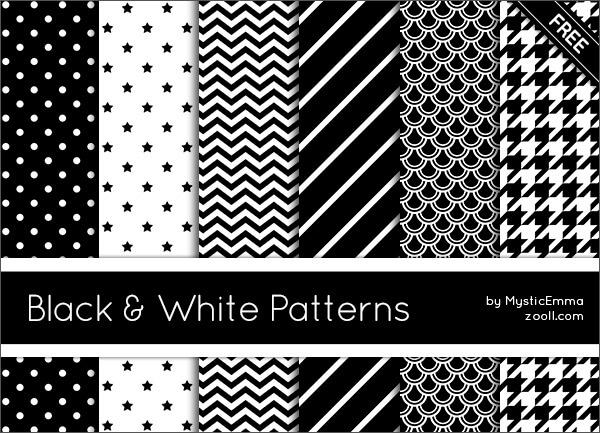 Паттерны для создания черно-белых фонов в Фотошопе