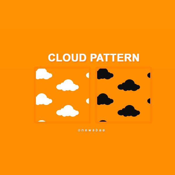 Паттерны для создания фонов с мультяшными облаками в Фотошопе