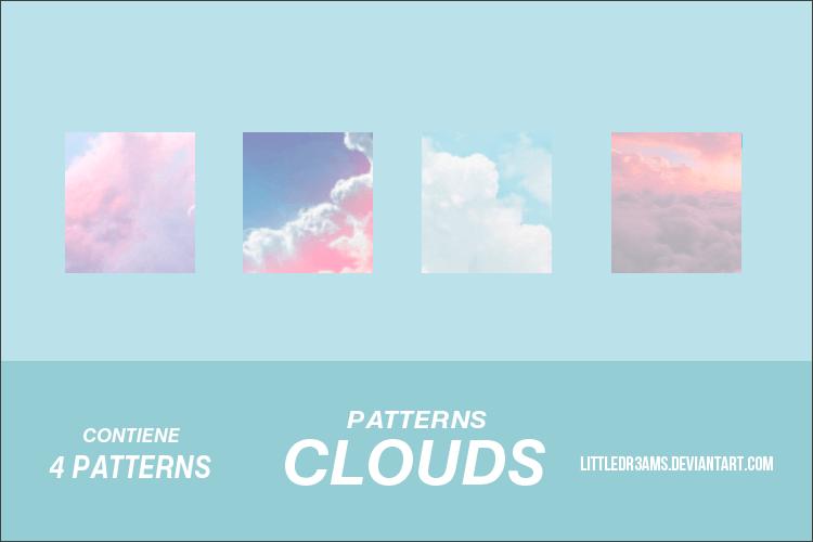 Паттерны для создания фонов с облаками в Фотошопе