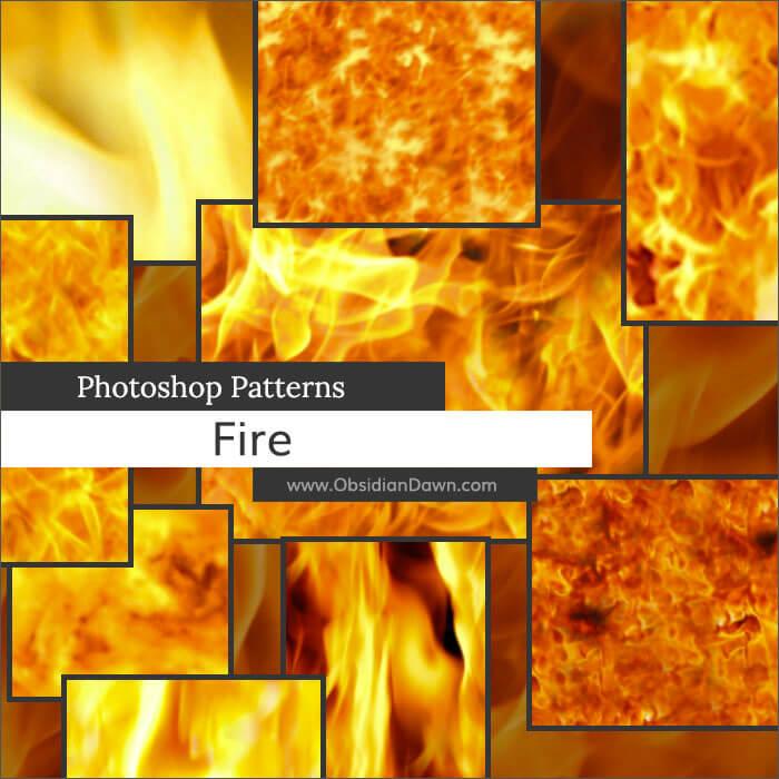 Паттерны для создания фонов с огнем в Фотошопе