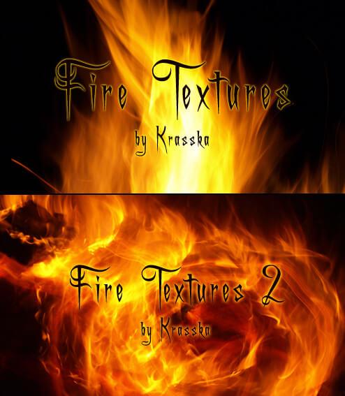 Фоны с текстурой огня для Фотошопа