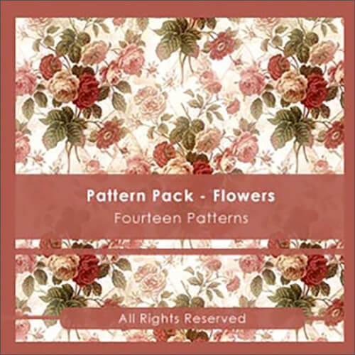 Паттерны с розами и другими цветами для Фотошопа