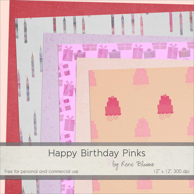 Праздничные фоны ко Дню рождения для Фотошопа