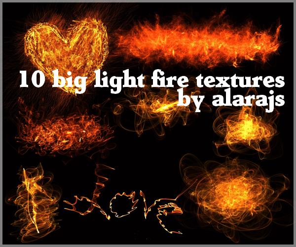 Фоны c огненными фигурами и узорами для Фотошопа