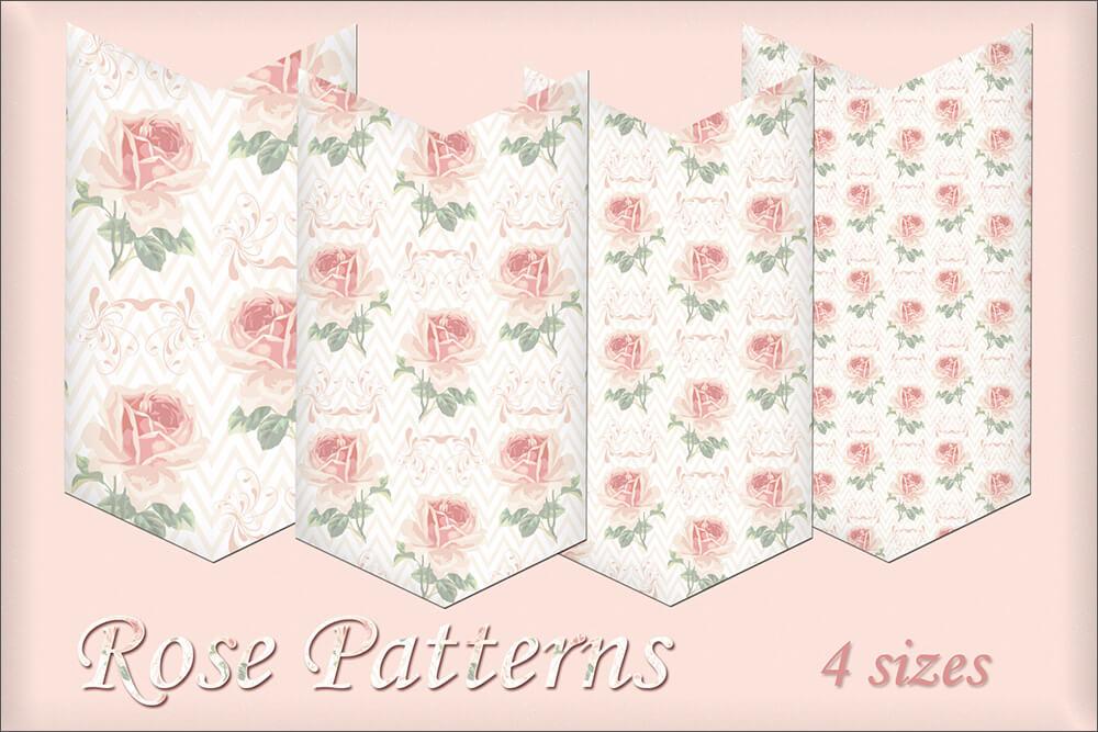 Паттерн для создания фонов с нежными розами в Фотошопе