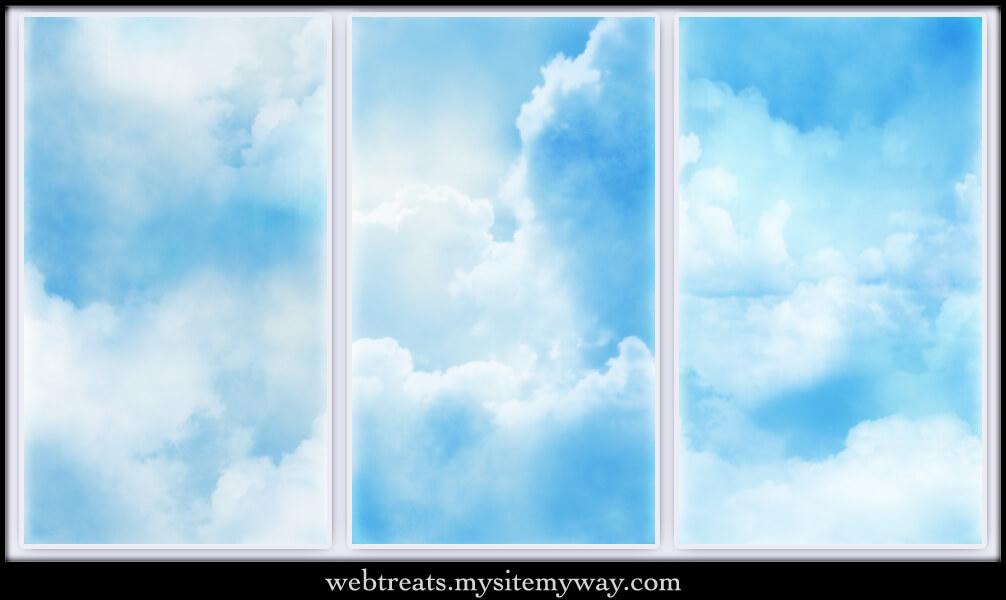 Паттерны для создания фонов с голубыми облаками в Фотошопе