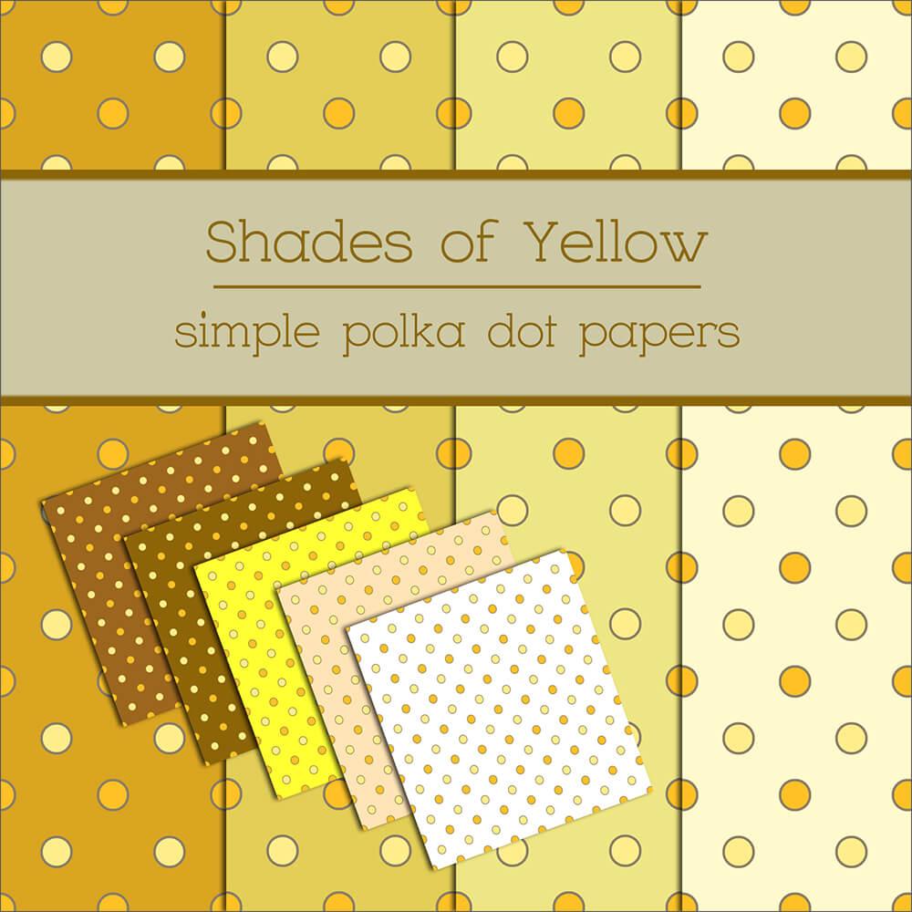 Фоны в желтых тонах с кружочками для Фотошопа