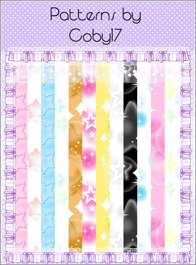 Паттерны для создания разноцветных фонов со звездами в Фотошопе