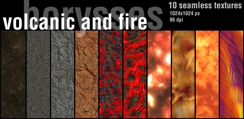 Фоны с текстурой огня и вулканической лавы для Фотошопа