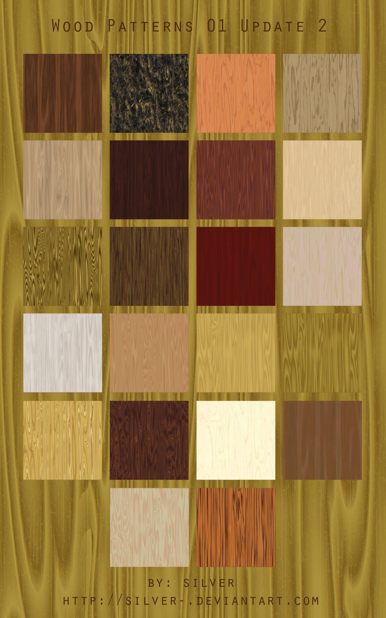 Фоны с текстурами различных пород древесины для Фотошопа