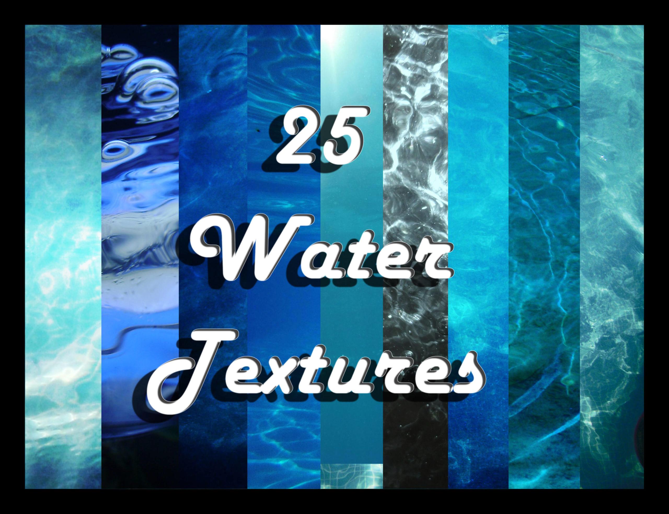 Набор фонов с текстурой воды для Фотошопа