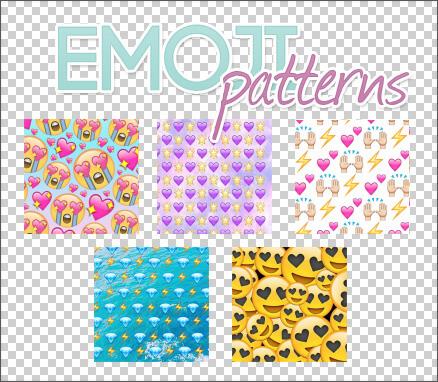 Паттерны для создания фонов с различными смайликами в Фотошопе