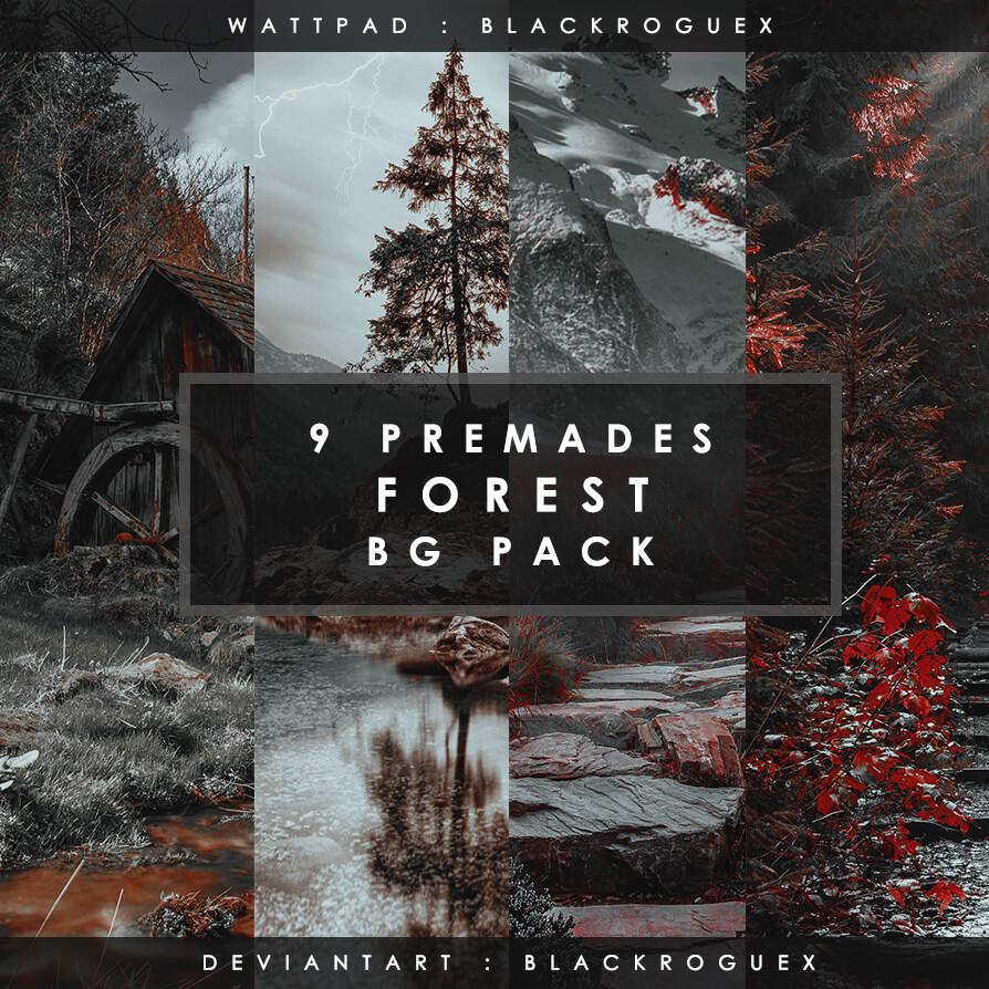 Фоны с мистическими лесными пейзажами для Фотошопа
