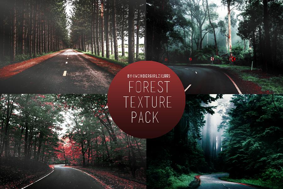 Фоны с лесной дорогой для Фотошопа